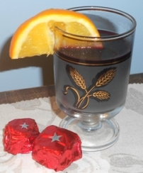 Homemade mulled wine