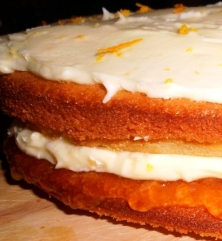 Orange buttercream sponge