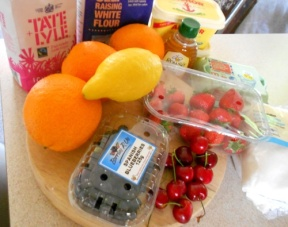Ingredients for '5-a-day' cake